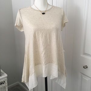 Anthropologie Amadi drapey tee shirt- Small